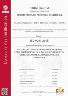 ISO 9001-2015 Kalitate Ziurtagiria